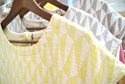 自然な風合い♪先染め糸で作ったシャツ&チュニック