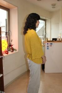 長くなった髪をいかしたウェーブで 簡単にドレスアップできる・・・