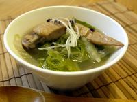 鶏肉と白菜の薬膳スープ