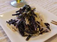 紅菜苔と玉ねぎのパスタサラダ
