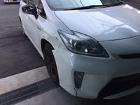 トヨタ プリウス フェンダー&フロントバンパー交換