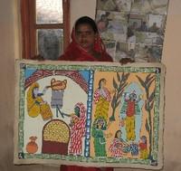 ミティラー画 《ネパール》