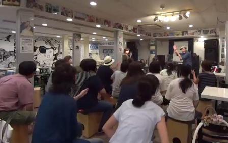 カホンワークショップ 神戸・大阪 カホンレッスン風景