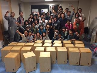カホン手作り ワークショップ イベント 神戸・大阪 2017