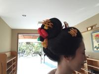 自毛で日本髪の新婦様