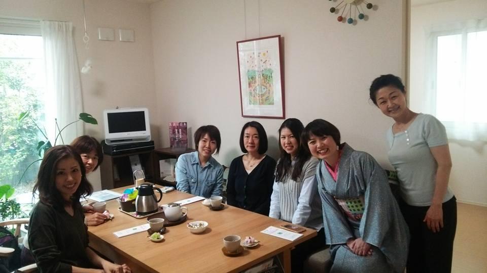 美容ばりと和菓子のコラボお茶会