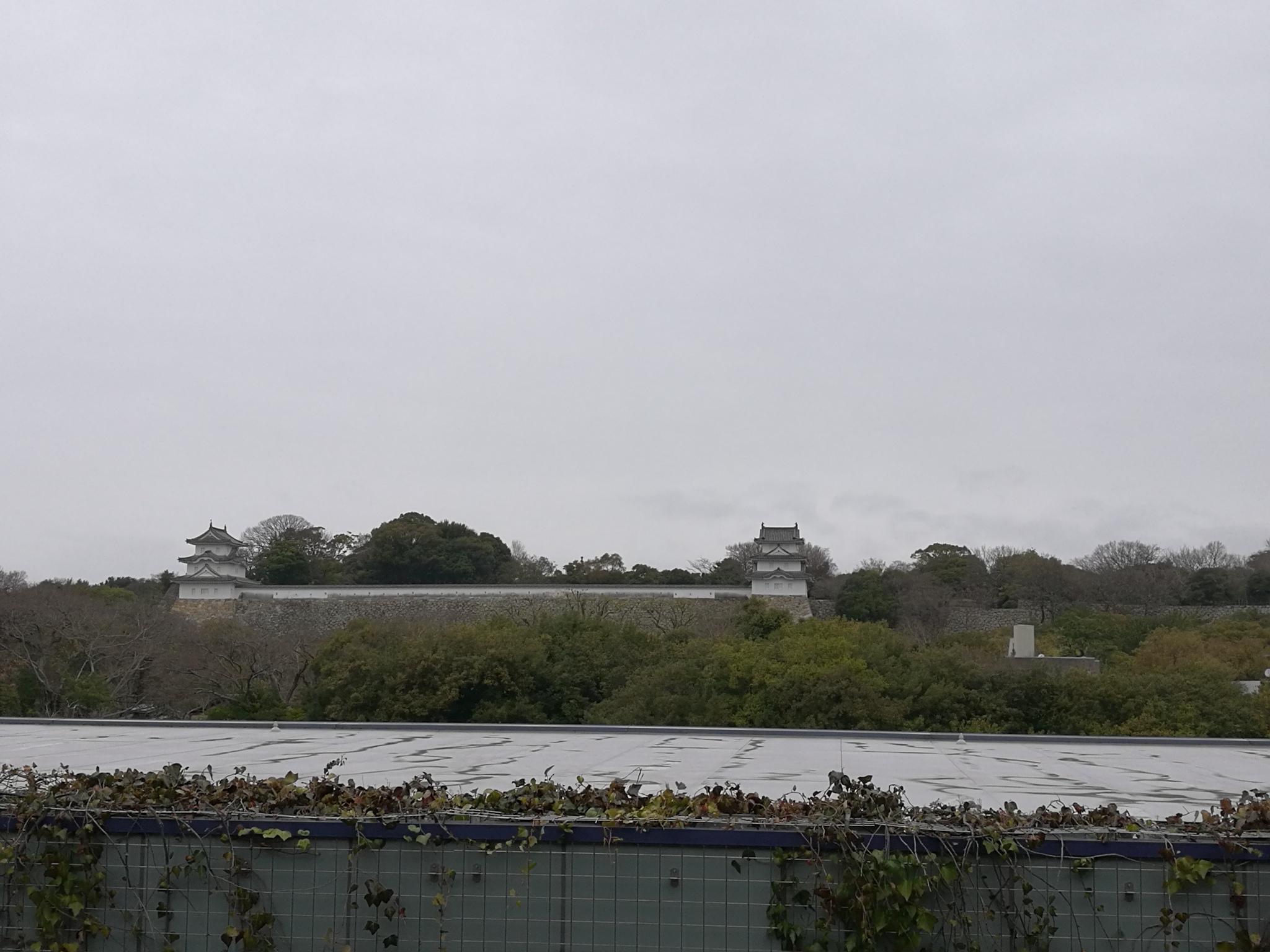 今日は雨模様の  明石城   明石城には天守閣がありませ・・・