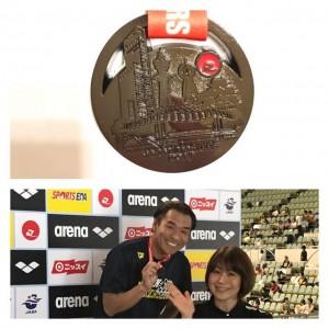 ☆JAPANマスターズ水泳大会 4位☆ 入賞の黒メダルを獲得しました(^-^)v