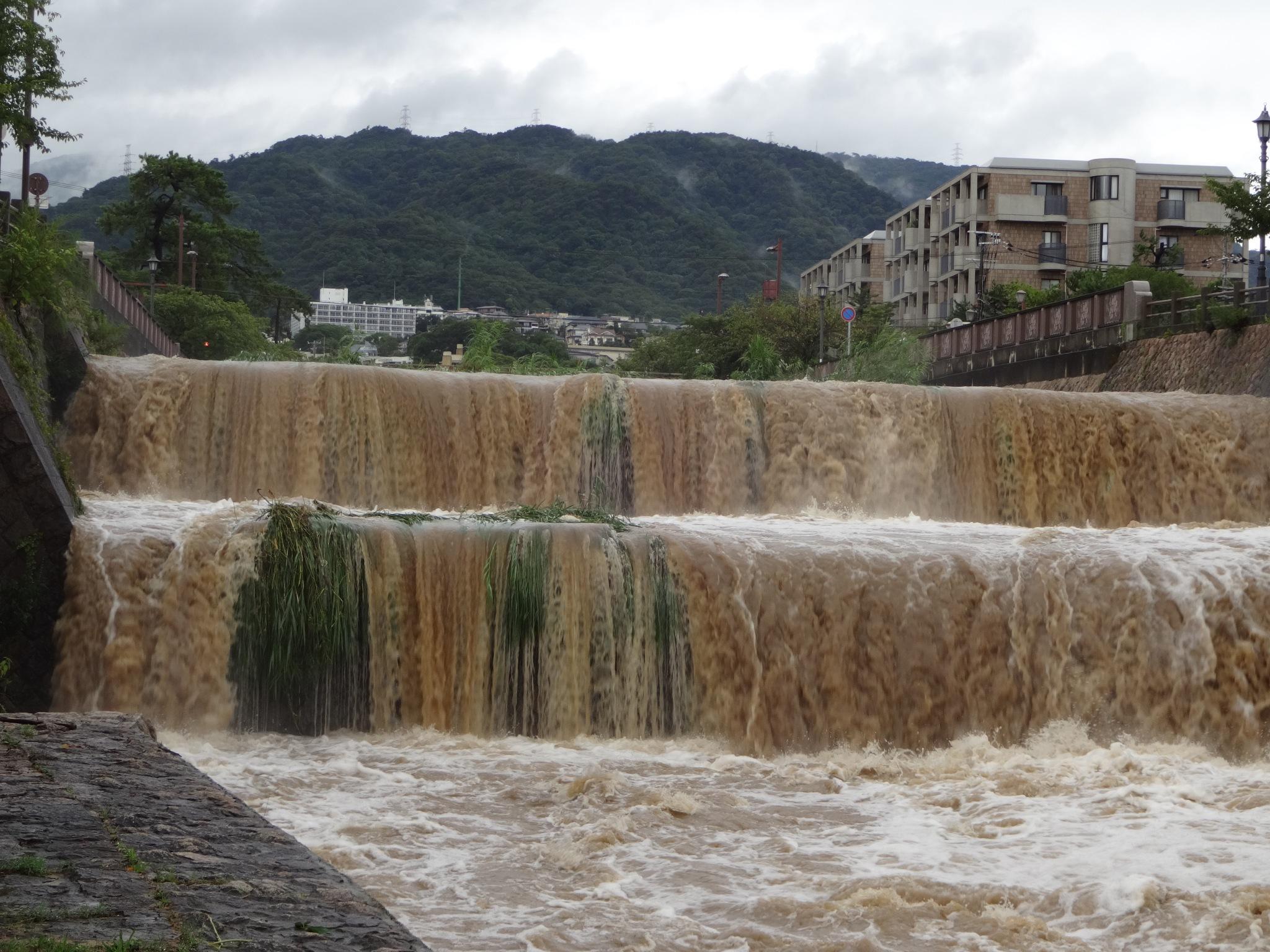 芦屋川(業平橋付近|2段滝正面)20140810