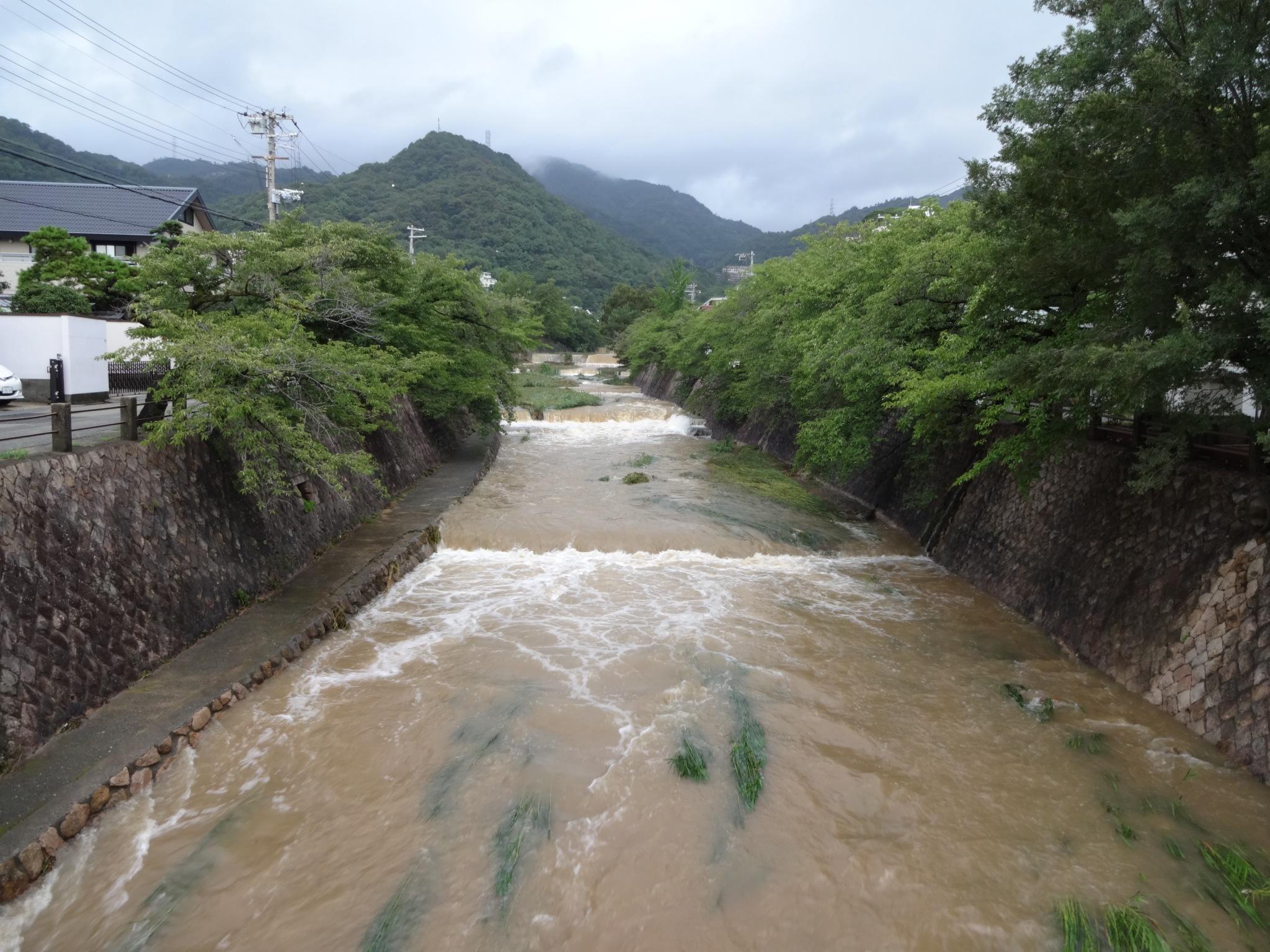 芦屋川(開森橋から北側(六甲山側))20140810)