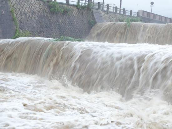 芦屋川(2段滝を正面から撮影)20150717