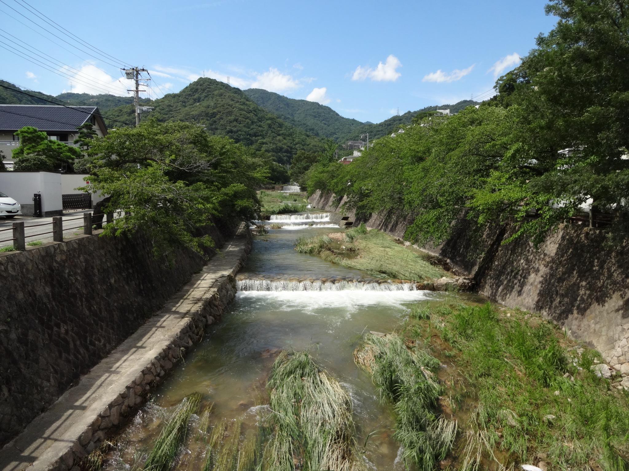 芦屋川(開森橋から北側(六甲山側))20140811