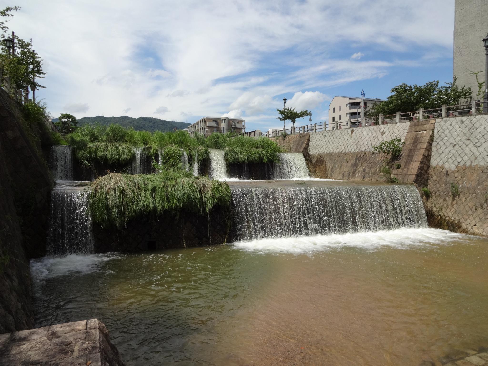 芦屋川(業平橋付近|2段滝正面)20140811