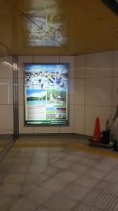 三宮駅地下通路電照式サイン更新