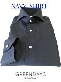 夏男&夏女にオススメなマリンルックなネイビーシャツ(オーダーシャツ)☆
