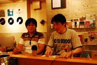 笑福亭瓶吾さんと瓶生さんによるLPジャケ展訪問。
