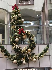 12月元町通ジェムビルのクリスマスツリー
