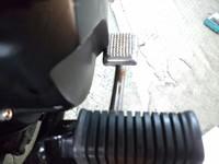 Z400FX リアブレーキの加工
