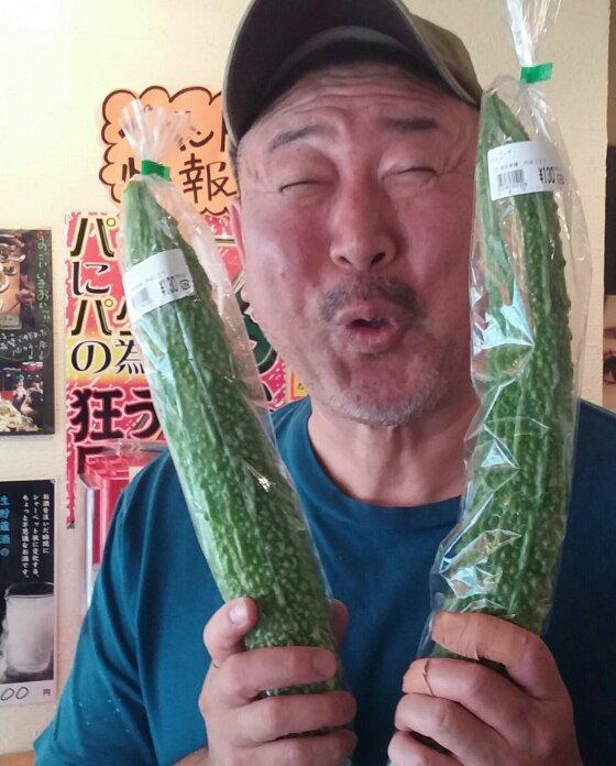 兵庫県産ゴーヤ 花吉裏の元町マルシェさんで購入 僕の作る・・・