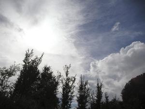 うす雲の中の太陽