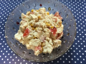 時短レシピ☆豆腐とツナとコーンとトマトのサラダ
