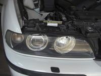 BMW5シリーズ(E39)のヘッドライト黄ばみ落とし